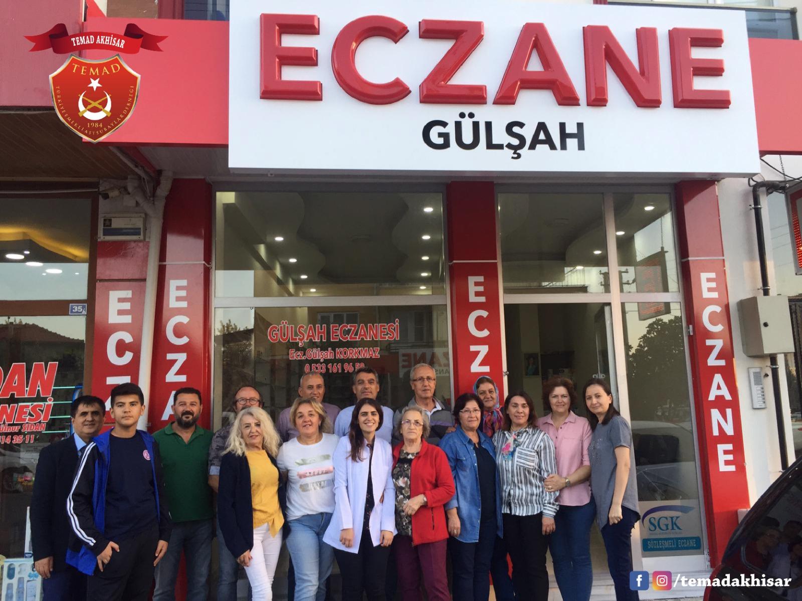 Yönetim kurulu üyemiz Enver Korkmaz'ın kızı Gülşah Korkmaz'ın yeni açılan Eczanesine hayırlı olsun ziyaretinde bulunduk.